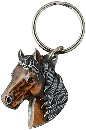 Siskiyou Automotive KR141E Metal Key Chain (Horse Head Enameled Details) ()
