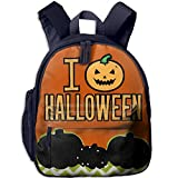 Ugift Cool Print I Love Halloween Spooky Pumpkin 2-6 Children Book Bag Birthday Gift Prize Schoolbag