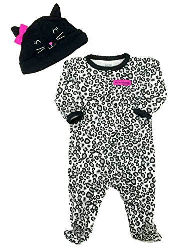 Carters Infant Girls First Halloween Outfit Black Leopard