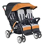 Foundations Quad Sport 4 Passenger Stroller, Orange