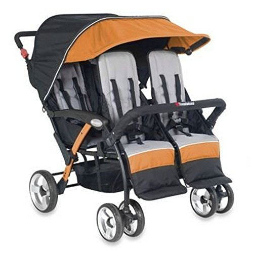 Foundations Quad Sport 4 Passenger Stroller, Orange by Foundations