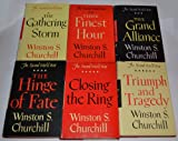 Winston S. Churchill THE SECOND WORLD WAR SERIES (6 BOOKS) (THE GATHERING STORM (1948) / THEIR FINEST HOUR (1949) / THE GRAND ALLIANCE (1950) / THE HINGE OF FATE (1950) / CLOSING THE RING (1951) / TRIUMPH AND TRAGEDY (1953))