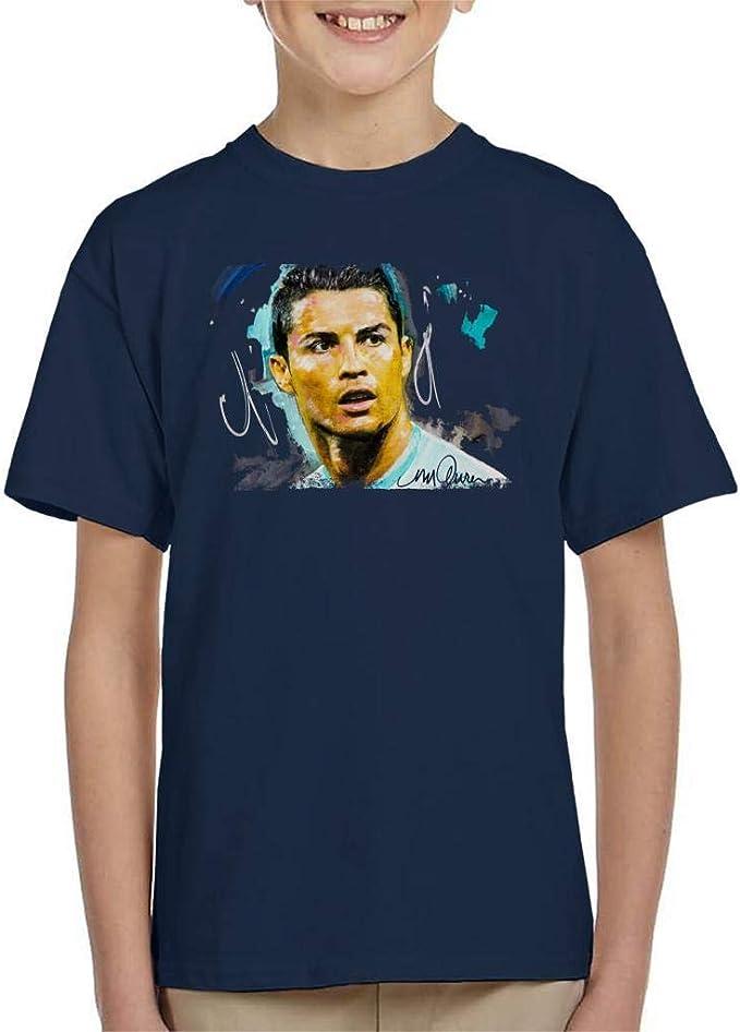 VINTRO - Camiseta de fútbol Cristiano Ronaldo para niños, diseño de Sidney Maurer: Amazon.es: Ropa y accesorios