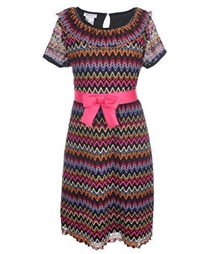 Zig Zag Knit Dress - 7