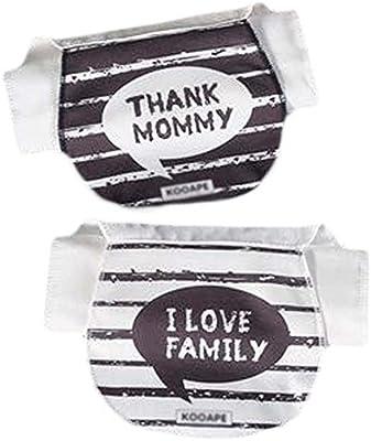 Bebé suaves del algodón de gasa encantador de las toallas Estropajos Mat 2 piezas Sweat toallas absorbentes