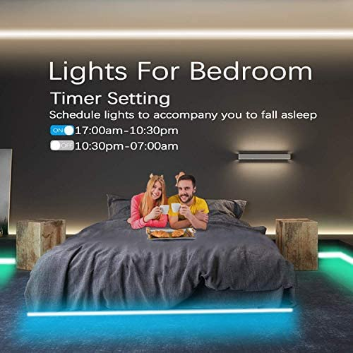 Cozylady LED Strip Lights 50Ft Controlled by way of APP, Remote , Voice