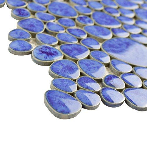 SomerTile FKOPS144 Boulder Cloud Porcelain Floor and Wall Tile, 11'' x 11'', Blue by SOMERTILE (Image #4)