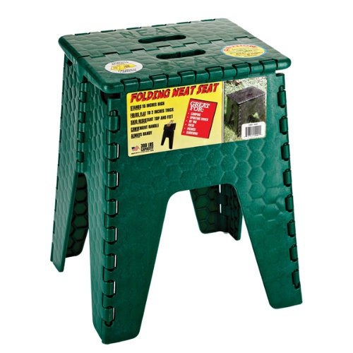 B & R Plastics E-Z foldz 38,1cm 'Neat Asiento 'paso taburete/asiento, Verde bosque, 15 pulgadas
