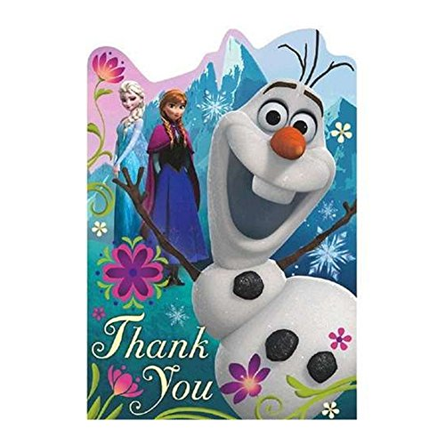 Frozen Thank You Postcards With Purple Envelopes – 8 -