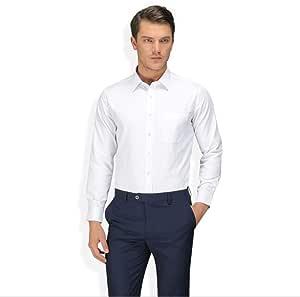 QJXSAN Camisa de Manga Larga for Hombre, Camisa Blanca ...
