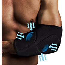 Light Weight Compression Gel Wrap For ELBOW Pain Relief. Reusable Cyro Cold Therapy Is Colder Than Ice For Long Lasting Pain Relief From Spasms, Swelling And Sore Muscles. Consistent Temperature.
