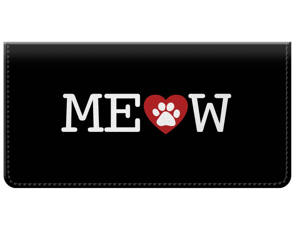 Meow Cat Love Checkbook Cover