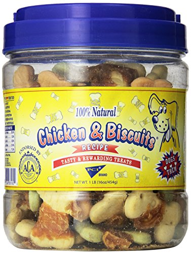 Pet Center DPC88160 1-Pound Natural Giant Chicken Wrapped Dog Biscuits, Small (Pet Center Tenders Breast Chicken)
