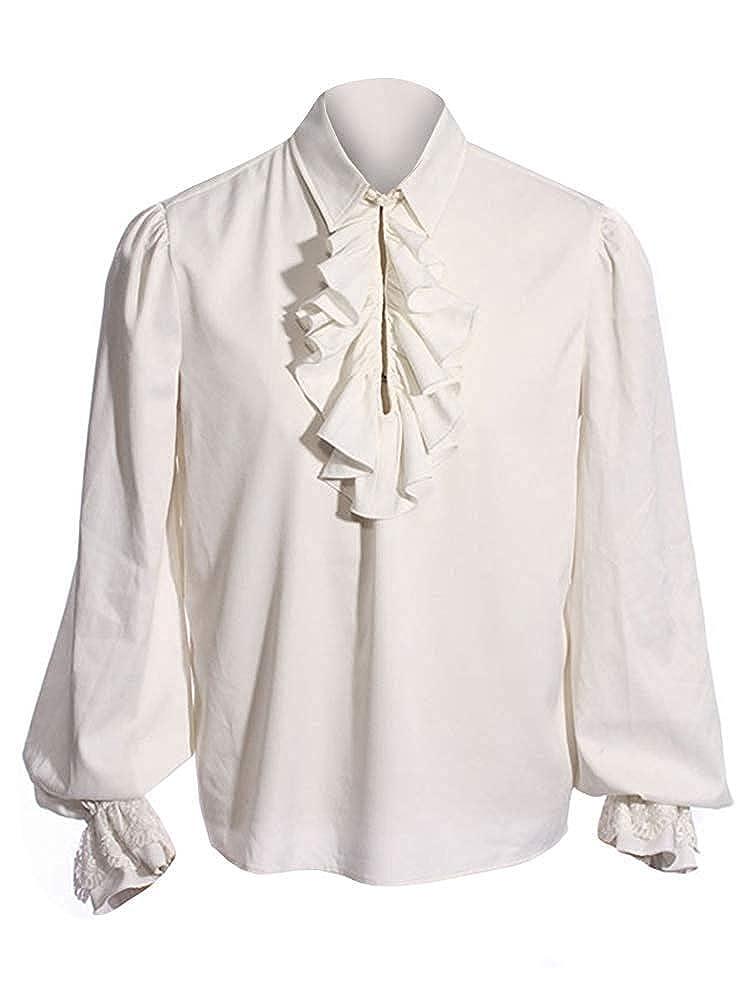 Amazon.com: Camisas medievales piratas para hombre con ...
