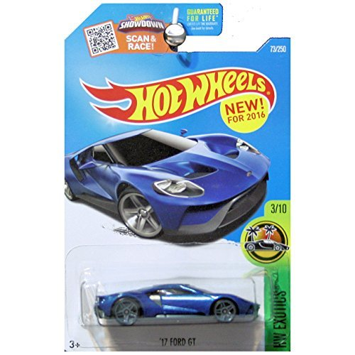 Free Hot Wheels 2016 HW Exotics 2017 Ford GT in Blue