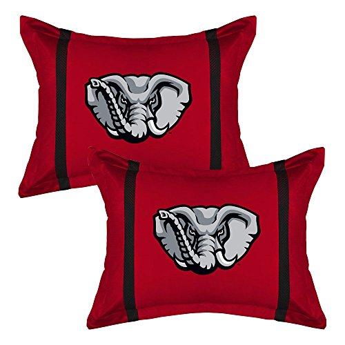 Mvp Pillow Sham (2pc NCAA Alabama Crimson Tide Pillow Sham Set MVP College Team Logo Bedding Accessories)