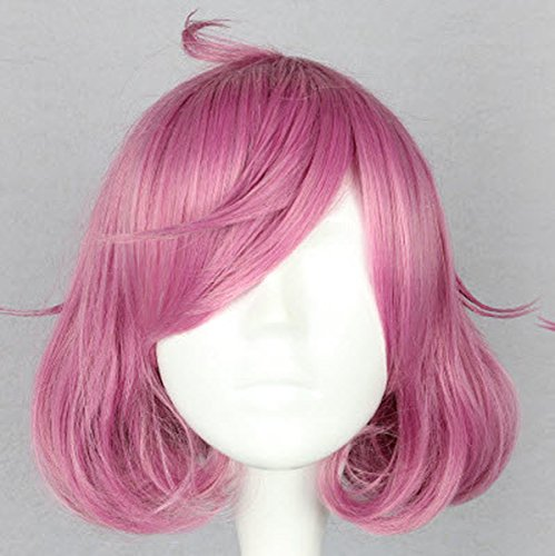 Pink Pigtails Cosplay Wig (SMILE Classical Style Anime Noragami-Ebisu joy Rose Pink Short Curly Cosplay Wig Party Wigs)