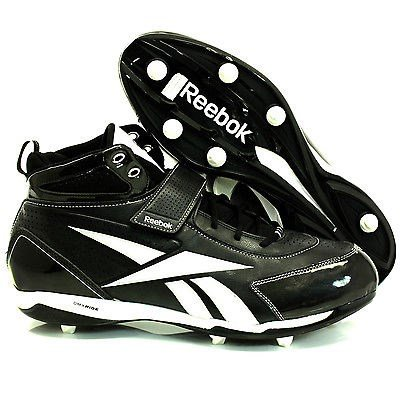 Reebok R20-J21093 MEN'S NFL PRO THORPE III D4 DMX RIDE FOOTBALL CLEATS MEN'S 15M R-20J21093BK WH 15M
