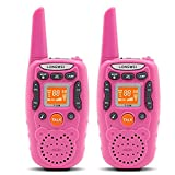 Walkie Talkies for Kids Girls 22 Channel Two Way Radios With 3 km Range (Pack of 2, Pink)