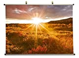 glorious sunset in alskan autumn - Canvas Wall Scroll Poster (28x20 inches)