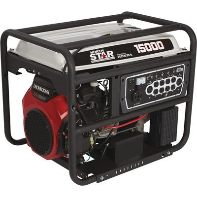NorthStar Portable Generator - 15,000 Surge Watts, 13,500 Rated Watts, Electric Start, CARB Compliant