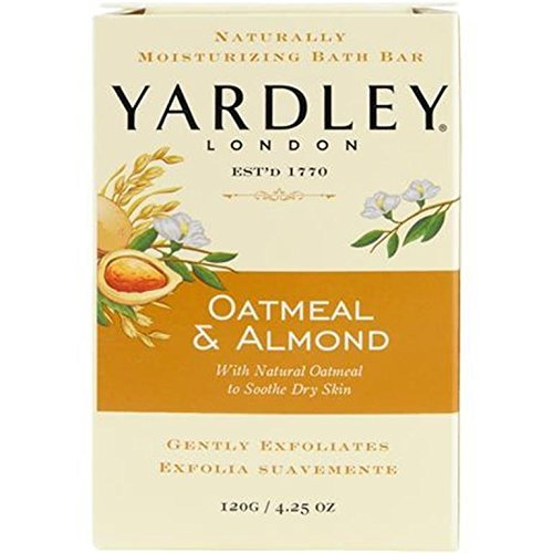 Yardley London Oatmeal and Almond Naturally Moisturizing Bath Bar, 4.25 oz. (Pack of 8) by Yardley