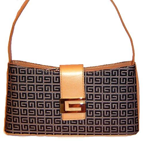Fabric G Signature Plaid Bag Handbag Designer Inspired Purse Belt Brown tan Classic