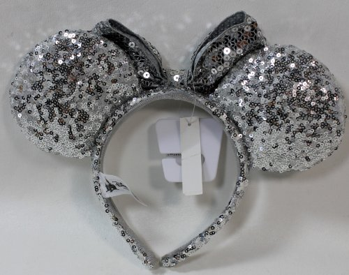 Disney Parks Silver Sequined Minnie Mouse Headband -