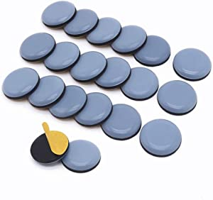 Furniture Slider Pads, 20pcs Teflon Moving Furniture Glides Self Adhesive Feet Protector for Carpet, Tiled and Hardwood Floors
