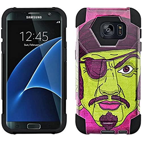 Samsung Galaxy S7 Edge Hybrid Case Pirate 2 Piece Style Silicone Case Cover with Stand for Samsung Galaxy S7 Edge Sales