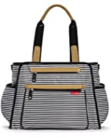 Skip Hop Grand Central Diaper Bag, Black and White Stripe