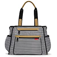Skip Hop Baby Grand Central Take-it-All Diaper Bag, Black Stripe