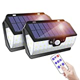 MODAR Outdoor Solar Light,55 LEDs with Motion Sensor with Remote Control/USB Charge/IP65 Waterproof/3 Adjustable Modes, Ideal for Garden, Garage, Driveway (2 Pack)