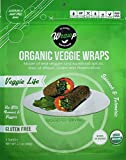 Organic Veggie Wraps - Mini Veggie Life Wraps (4 pack) by Wrawp | Perfect for Wraps, Sandwiches, Crackers, Side Bread or a Simple Snack