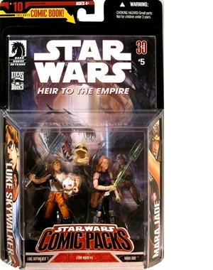 Star Wars Comic Packs #10 with Heir to the Empire Comic #5 and Luke Skywalker and Mara Jade Action Figures
