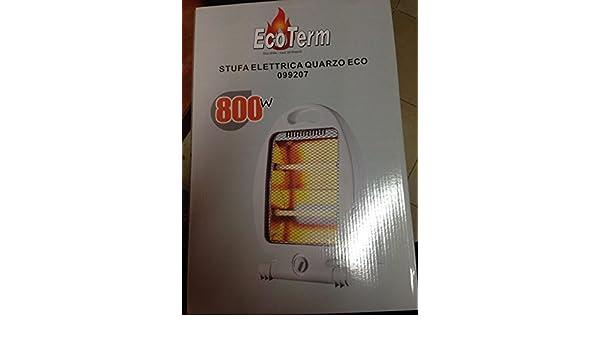 Estufa ECOTERM eléctrica al cuarzo Eco 800 W seguridad ...