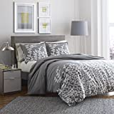 Cotton Comforter Sets King City Scene Branches Gray Cotton Comforter Set, King, Gray