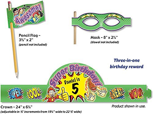 Superhero Birthday Crowns Green