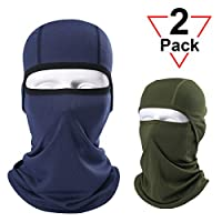 AXBXCX 2 Pack Balaclava - Breathable Face Mask Windproof Dust Sun UV Protection