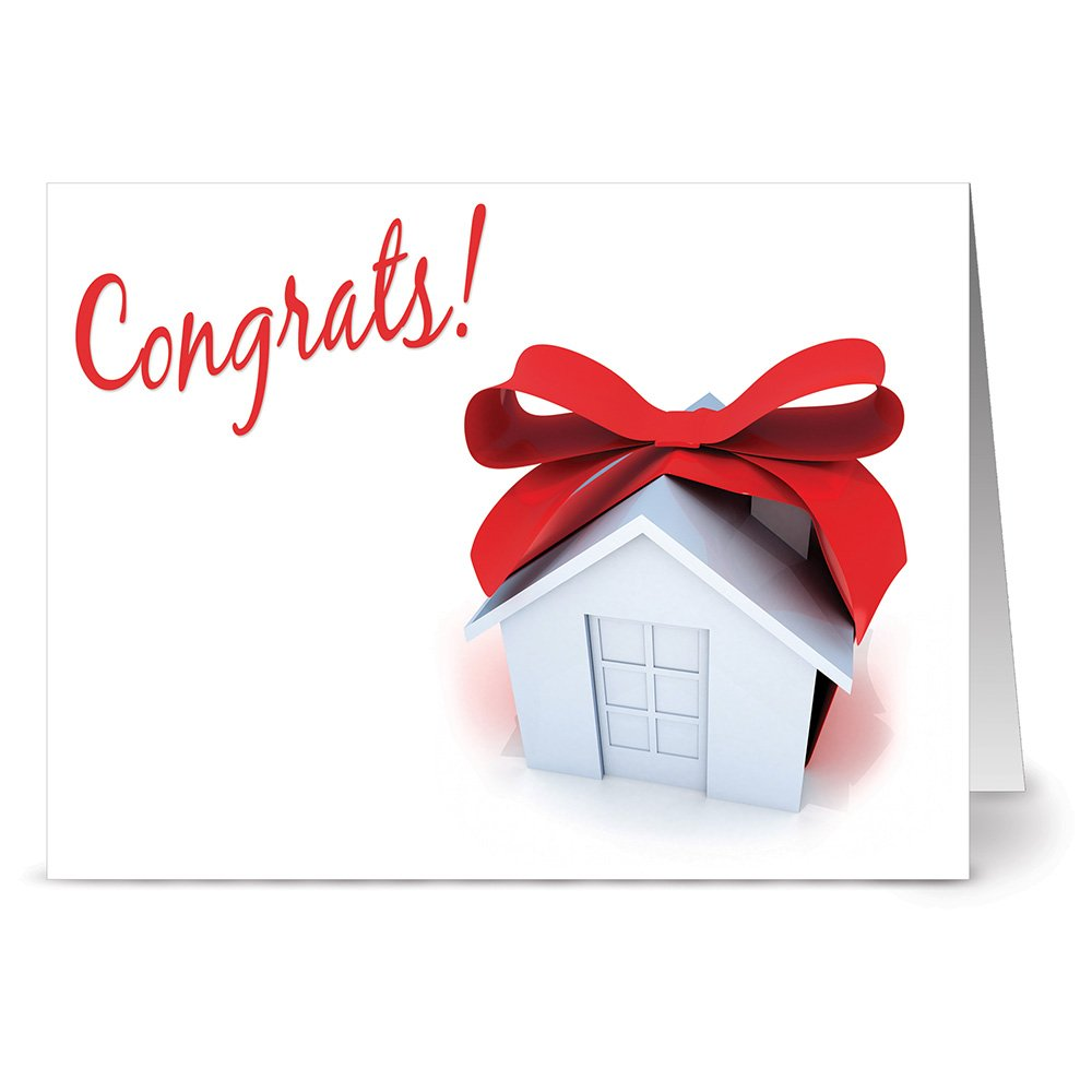 Amazon congratulations on your new home card pack 18 cards 24 note cards congrats on your new home blank cards kraft envelopes included kristyandbryce Image collections