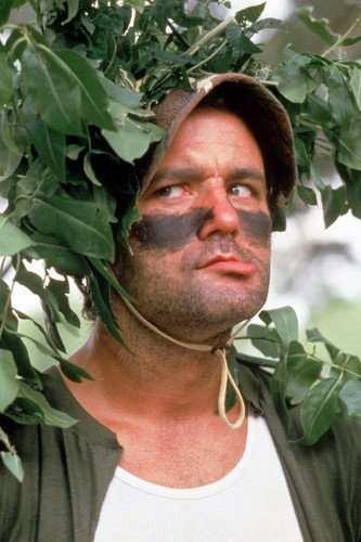 caddyshack bill murray in camouflage and face paint 24x36 poster at