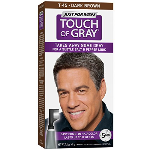 Just For Men Touch Of Gray Comb-In Men's Hair Color, Dark Brown