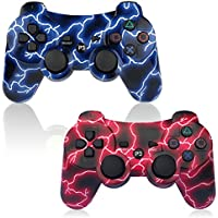 PS3 Controller 2 Pack Wireless Sixaxis Double Shock...
