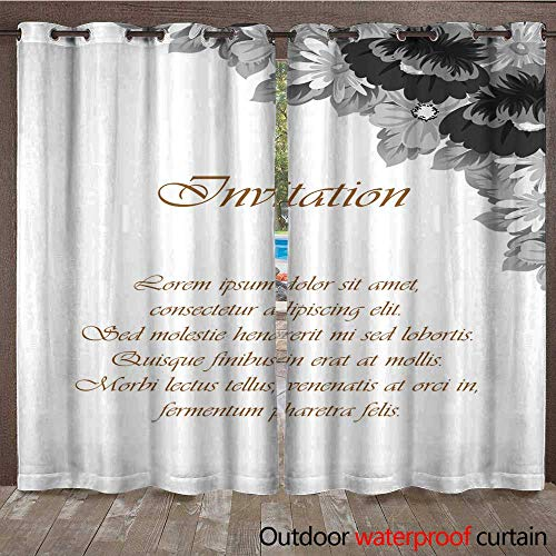 - Outdoor Ultraviolet Protective Curtains Flower Frame for Your Designs Greeting Cards Greeting Cards Invitations for Wedding Birthday Party Valentine s Day W84 x L108