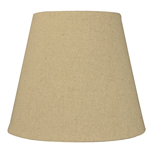 5x8x7 Empire Sand Linen Edison Clip Lampshade by Home Concept - Perfect for small table lamps, desk lamps, and accent lights -Small, Tan (Lamp Shade 7 Inch)