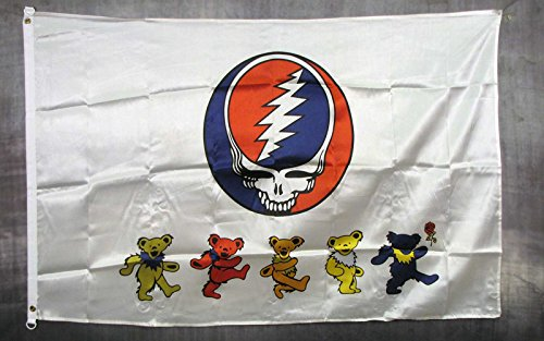 Grateful Dead Bear Flag - Greatful Dead Bears Traditional Flag