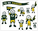 NFL Green Bay Packers Large Family Decal Set