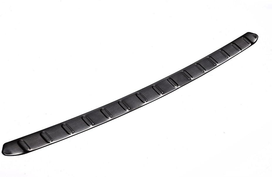 Schwarz Edelstahl hinten Bumper Plate Verkleidung
