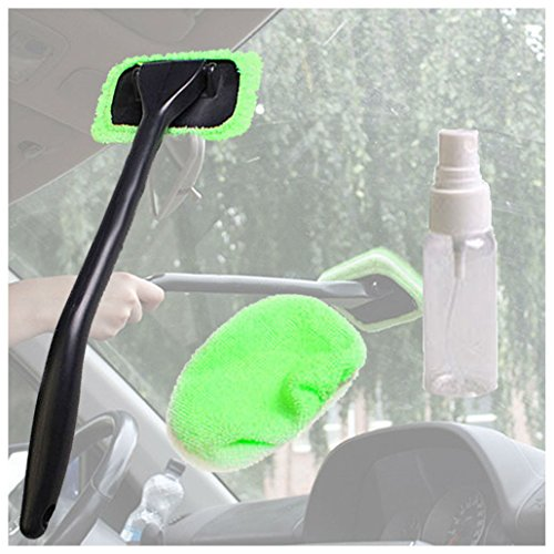 (Microfiber Windshield Clean Car Auto Wiper Cleaner Glass Window Tool Brush Kit)