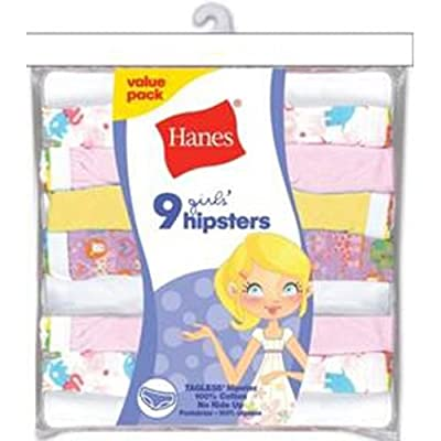 Hanes Girls' Hipster Panty (9-Pack)